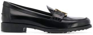 Tod's buckled strap loafers