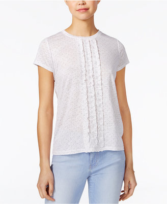 Maison Jules Linen Ruffled T-Shirt, Only at Macy's $39.50 thestylecure.com