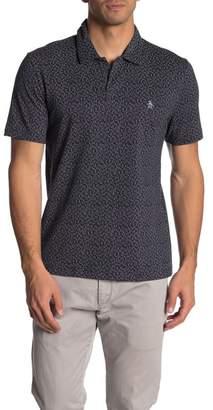 Original Penguin Short Sleeve Printed Open Collar Polo Shirt