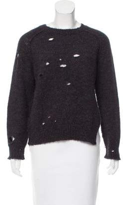 Etoile Isabel Marant Mohair & Wool-Blend Distressed Sweater