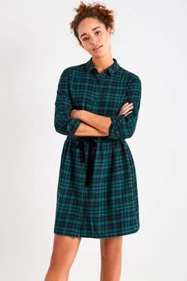 Jack Wills Dress- Burley Metallic Check Shirt