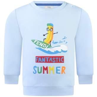 Fendi FendiBaby Boys Blue Summer Colours Sweater