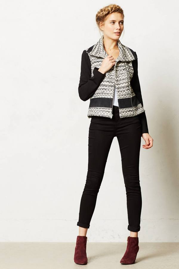 Anthropologie Textured Moto Jacket