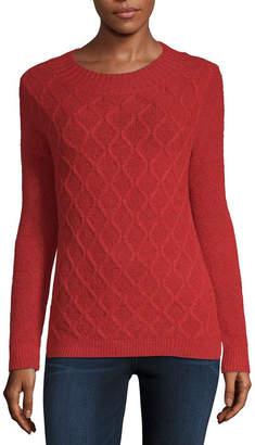 Liz Claiborne Long Sleeve Round Neck Pullover Sweater
