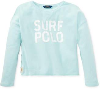 Polo Ralph Lauren Embroidered French Terry Sweatshirt, Big Girls