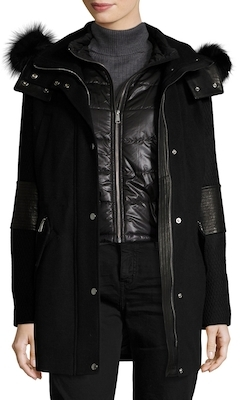 Marci Fur Trimmed Wool Parka $795 thestylecure.com