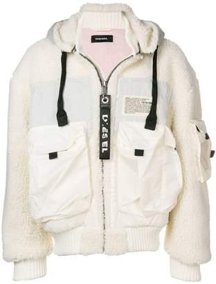 Diesel hooded bomber jacket