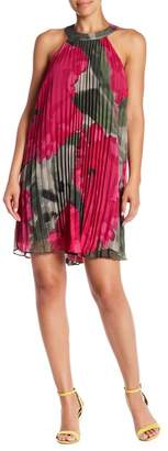 Trina Turk Corinna Pleated Halter Dress