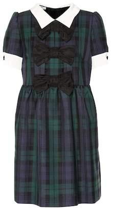 Miu Miu Plaid wool dress