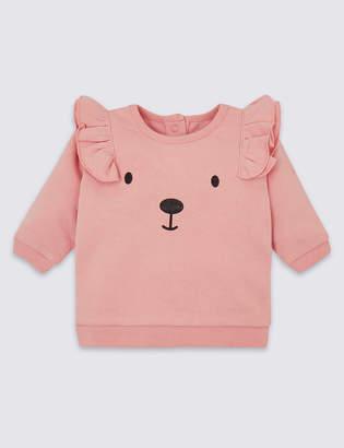 Marks and Spencer Organic Cotton Bear Face Sweatshirt