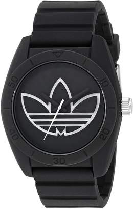 adidas Men's 'Santiago' Quartz Plastic and Silicone Casual Watch, Color: (Model: ADH3189)