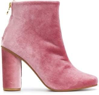 Stine Goya velvet ankle boots