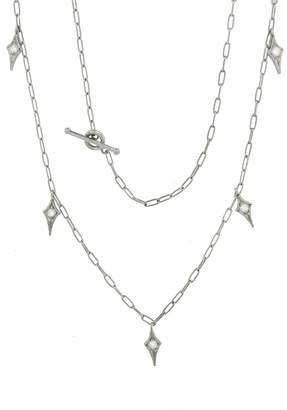 Cathy Waterman Diamond Fringe Spanish Chain Necklace