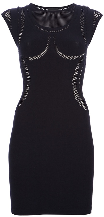McQ by Alexander McQueen mesh cut out dress
