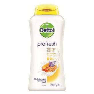 Dettol ProFresh Shower Cream Milk & Honey 500 mL