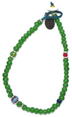Mikia White Hearts Bead Bracelet