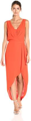 BCBGMAXAZRIA Azria Women's Tobyn Asymmetrical High Low Woven Dress