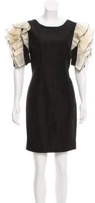 Dolce & Gabbana Ruffle Accented Silk Dress