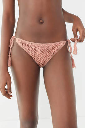 MinkPink Adrift Crochet Side-Tie Bikini Bottom