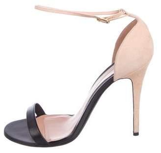 Alexander McQueen Suede Ankle Strap Sandals