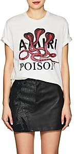 "Amiri Women's ""Poison"" Cotton Crop T-Shirt - White"