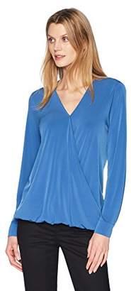 Lark & Ro Women's Long Sleeve Crossbody Top