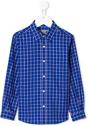 Bonpoint check long-sleeve shirt