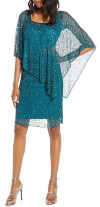 Pisarro Nights Beaded Cape Dress