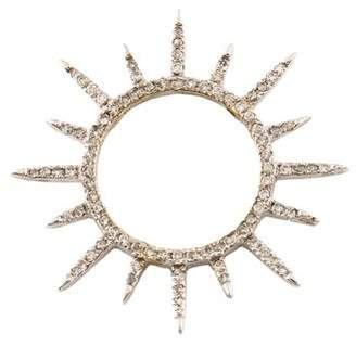14K Diamond Starburst Pendant