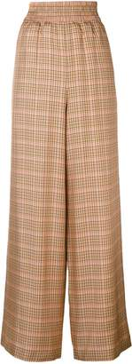 Golden Goose checked wide-leg trousers