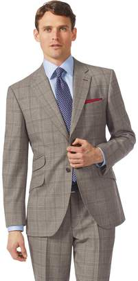Charles Tyrwhitt Grey Classic Fit British Prince Of Wales Check Luxury Suit Wool Jacket Size 44