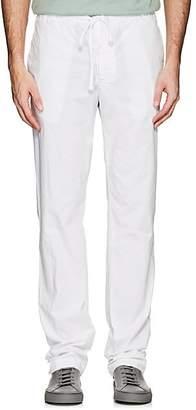 James Perse Men's Stretch-Cotton Poplin Drawstring Pants - White