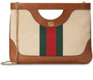 Gucci Large vintage canvas shoulder bag