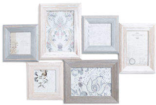 6 Opening Wood Collage Frame