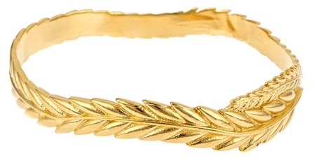 Sophia & Chloe Yellow Gold Wheat Bangle