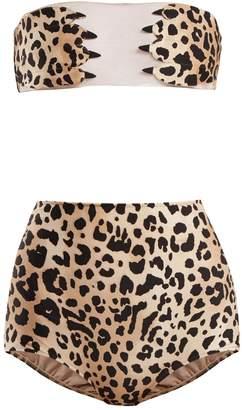Charlotte Olympia ADRIANA DEGREAS X leopard-print bikini