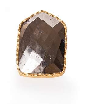 Christina Greene - Shield Ring in Pyrite