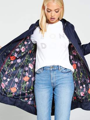 Ted Baker WalanaHedgerow Floral Printed Parka - Dark Blue