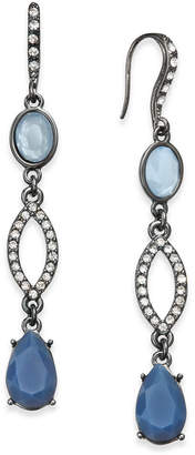 INC International Concepts I.N.C. Hematite-Tone Pavé & Blue Stone Linear Drop Earrings, Created for Macy's
