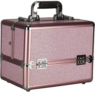 Sunrise Frescada Makeup Case Professional Nail Travel Organizer Box with Accordion Trays