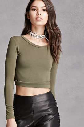 FOREVER 21+ Stretch-Knit Crop Top $18 thestylecure.com