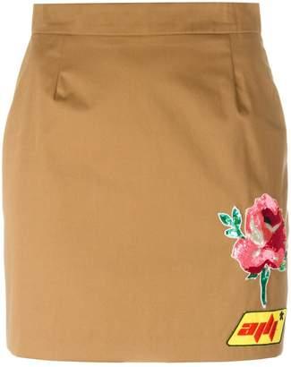 Au Jour Le Jour patch detail mini-skirt