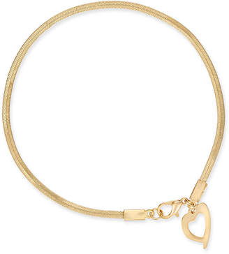Thalia Sodi Gold-Tone Heart Charm Ankle Bracelet, Created for Macy's