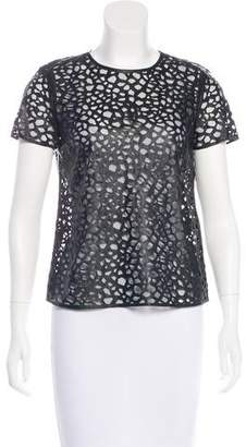 Diane von Furstenberg Sade Leather Top