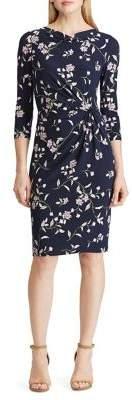 Lauren Ralph Lauren Floral Jersey A-Line Dress
