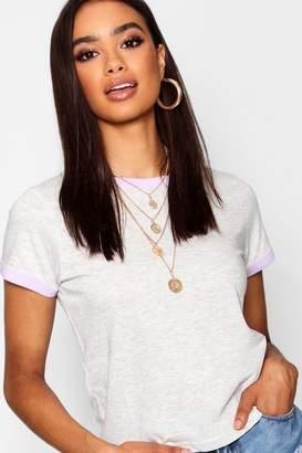 boohoo Contrast Ringer T-Shirt
