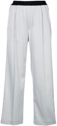 ASTRAET side stripe cropped trousers