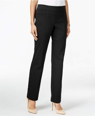 Jm Collection Pull-On Slim-Leg Pants, Created for Macy's $49.50 thestylecure.com