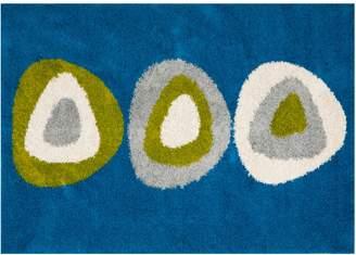 Safavieh Shag Blue Geometric Rug