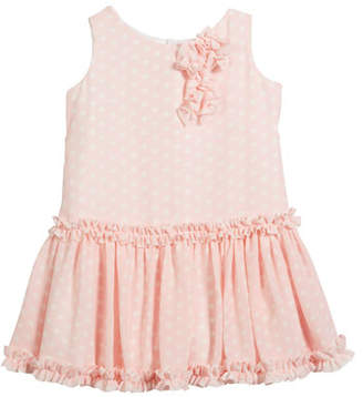Helena Pretty in Pink Polka-Dot Ruffle Dress, Size 7-14